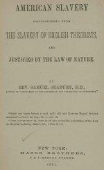 American Slavery Justified by Samuel Seabury