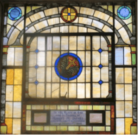 St. David Stain Glass Picture