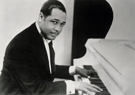 SSI237373  Credit: Duke Ellington (1899-1974) (b/w photo) by  American Photographer (20th century)  Private Collection/ The Bridgeman Art Library  Nationality / copyright status: American / copyright unknown